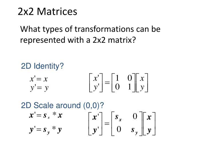 2x2 Matrices