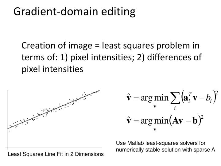 Gradient-domain editing