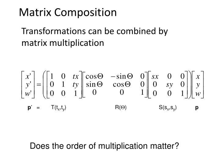 Matrix Composition
