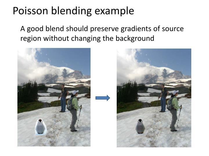 Poisson blending example
