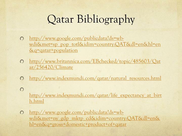 Qatar Bibliography