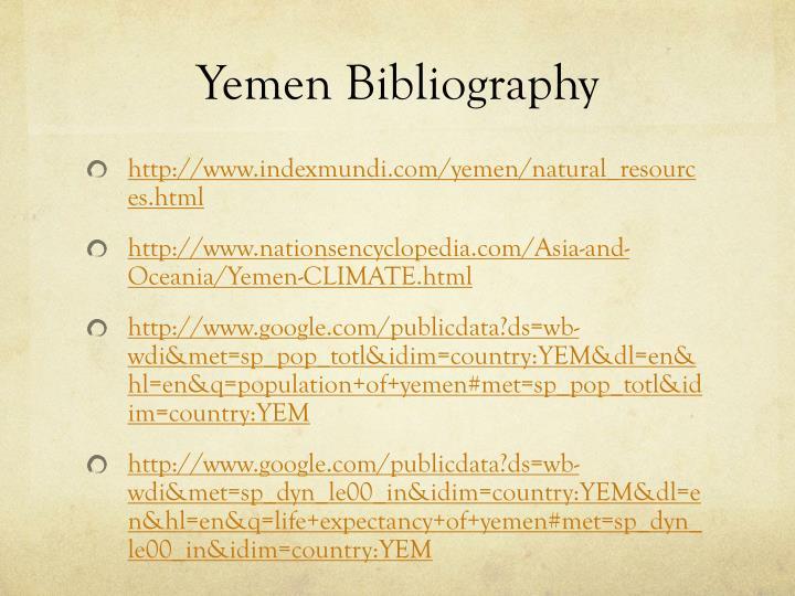 Yemen Bibliography