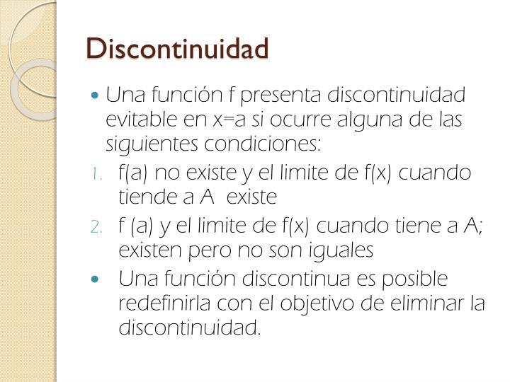 Discontinuidad