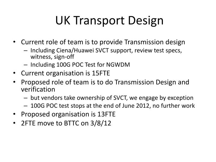 Uk transport design