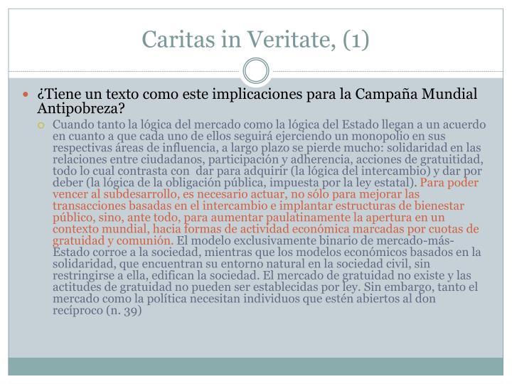 Caritas in Veritate, (1)