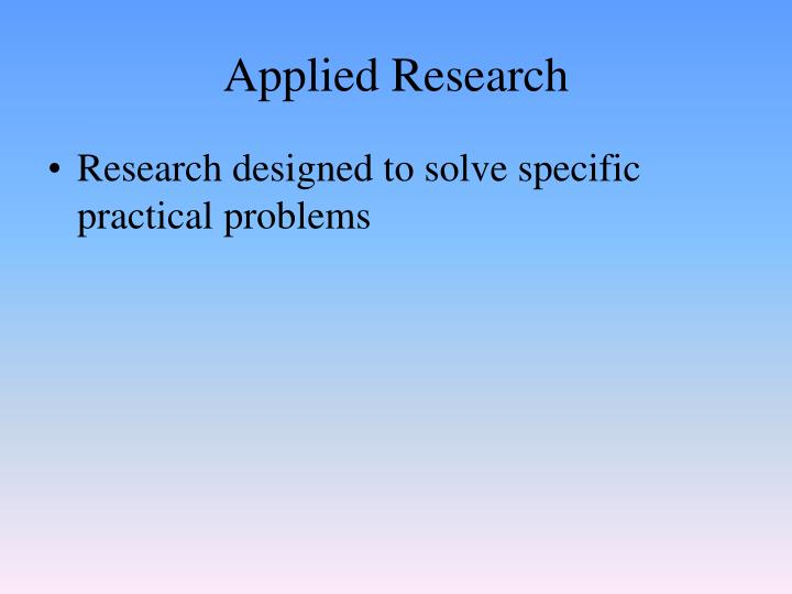 definition of pure research Types of research the different characteristics of research: research may be applied or basic basic research (pure) adds to the existing body of.