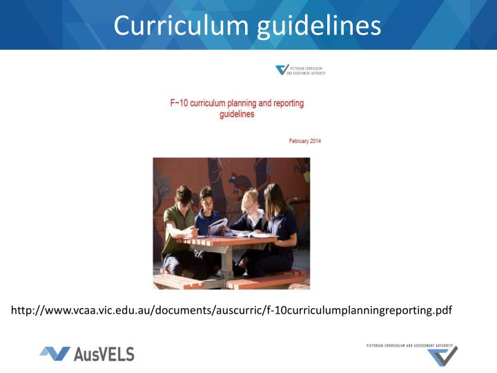 Curriculum guidelines