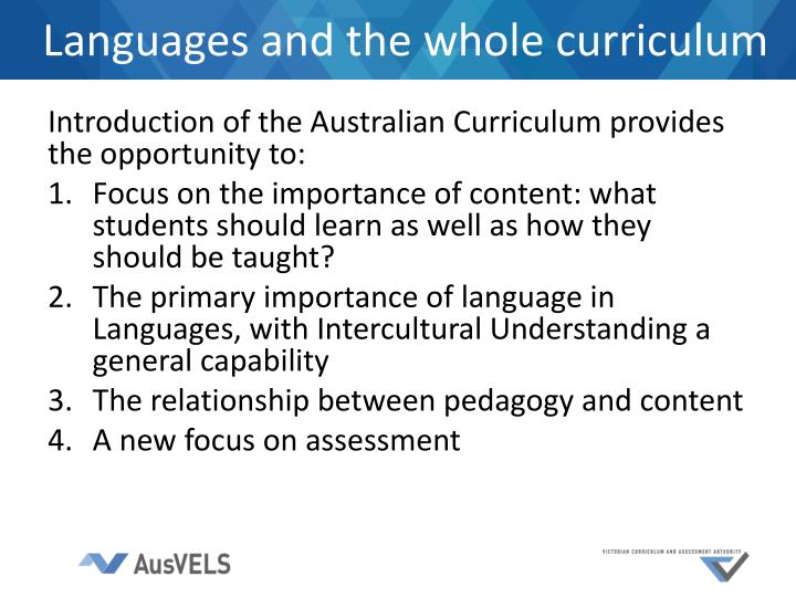 Languages and the whole curriculum