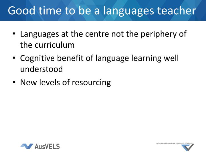Good time to be a languages teacher