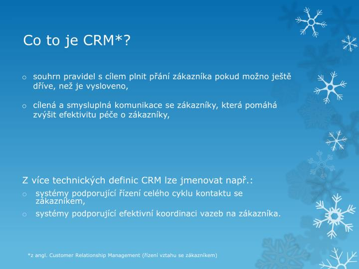 Co to je crm