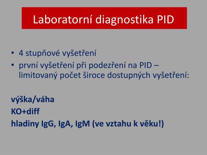 Laboratorní diagnostika PID