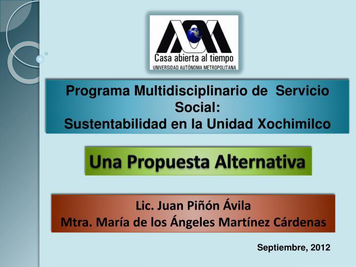 Programa Multidisciplinario de  Servicio Social: