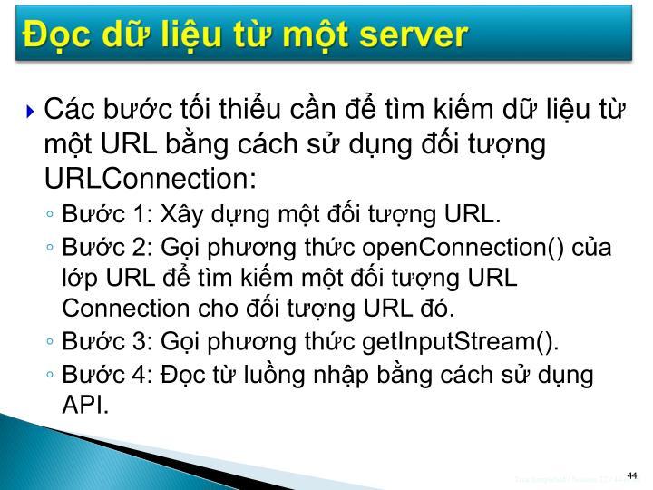 Đọc dữ liệu từ một server