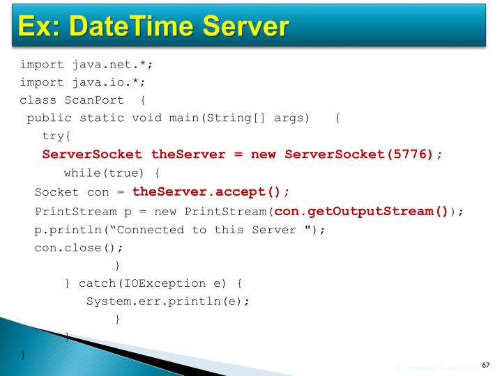 Ex: DateTime Server