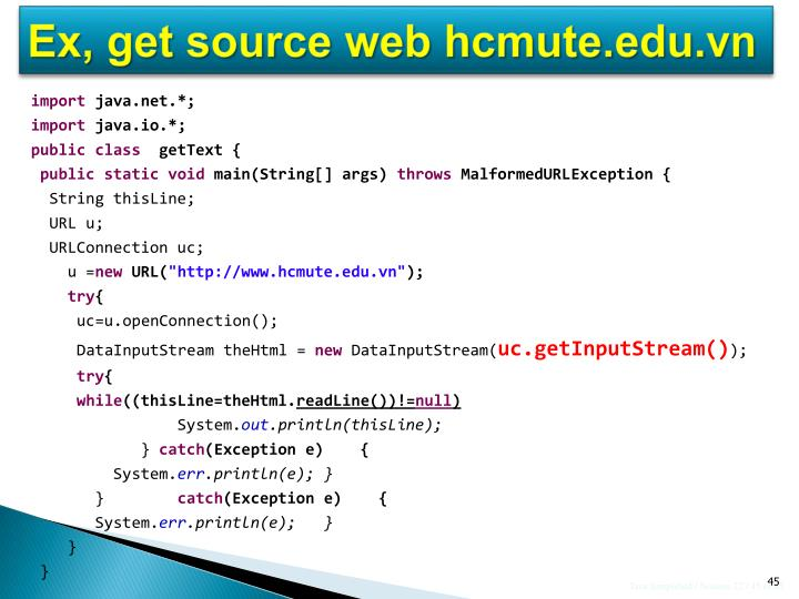 Ex, get source web hcmute.edu.vn