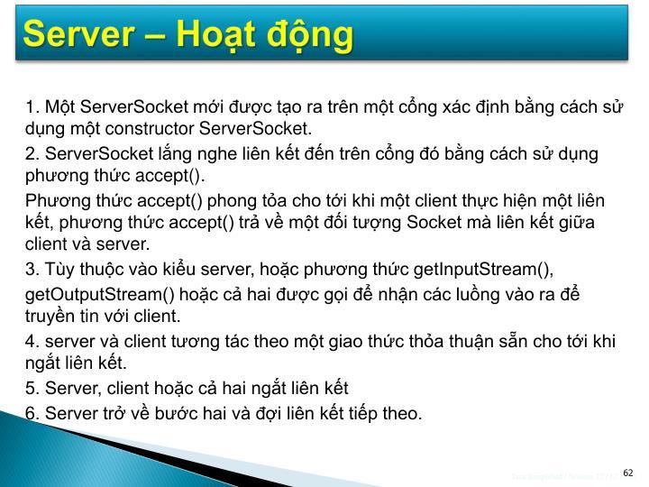 Server – Hoạt động