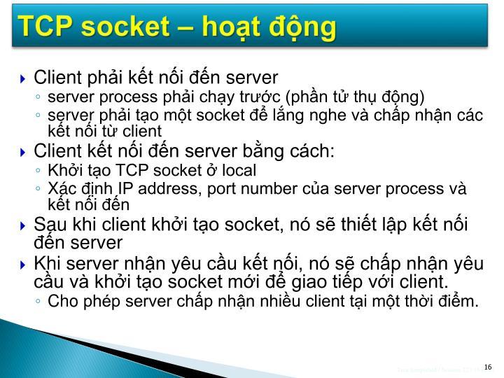TCP socket – hoạt động