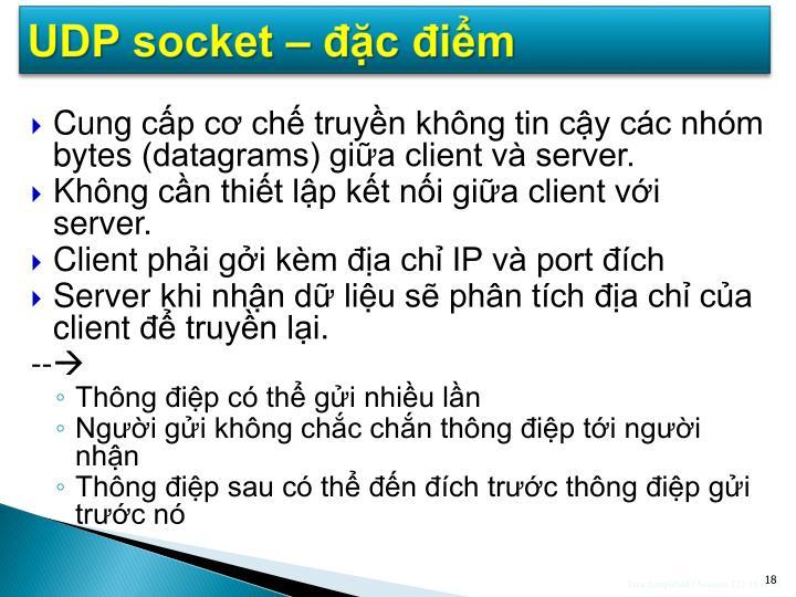 UDP socket – đặc điểm