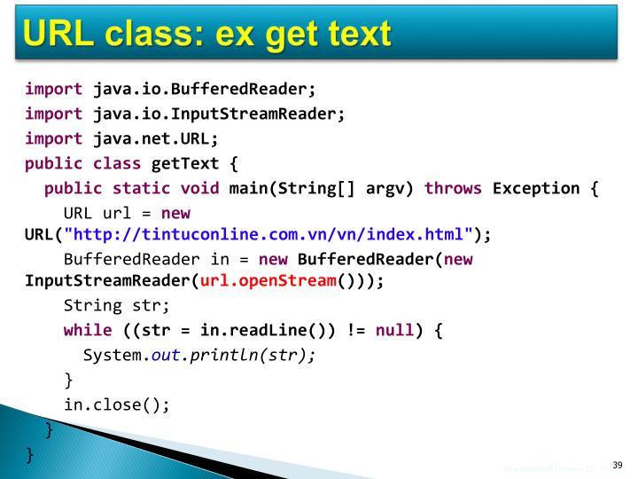 URL class: ex get text