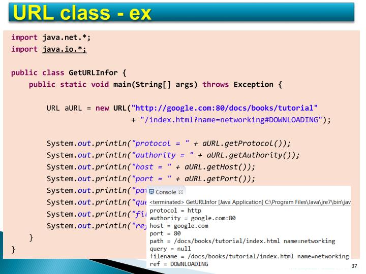 URL class - ex