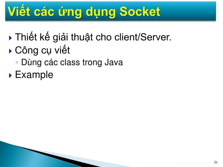 Viết các ứng dụng Socket