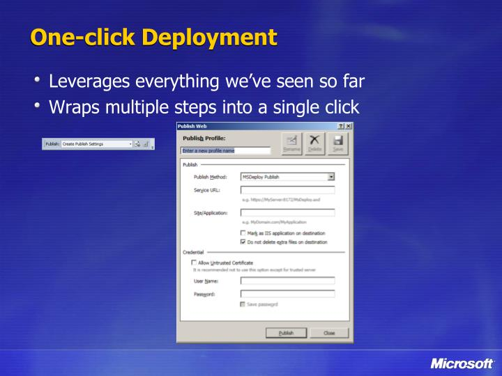One-click Deployment
