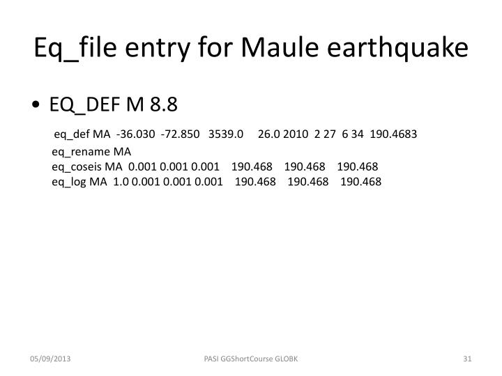Eq_file entry for Maule earthquake