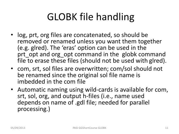 GLOBK file handling