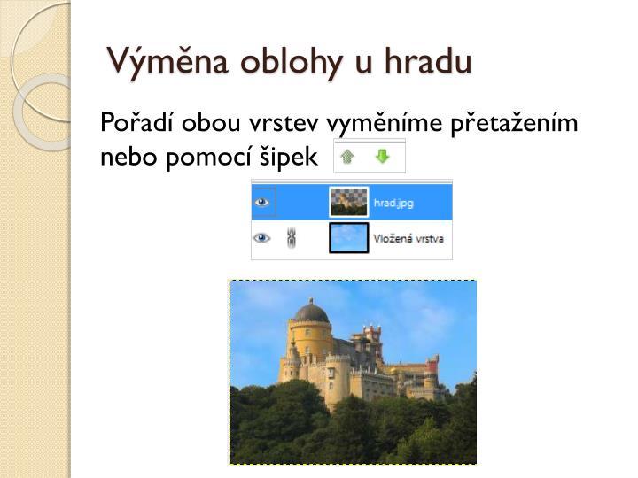 Výměna oblohy u hradu