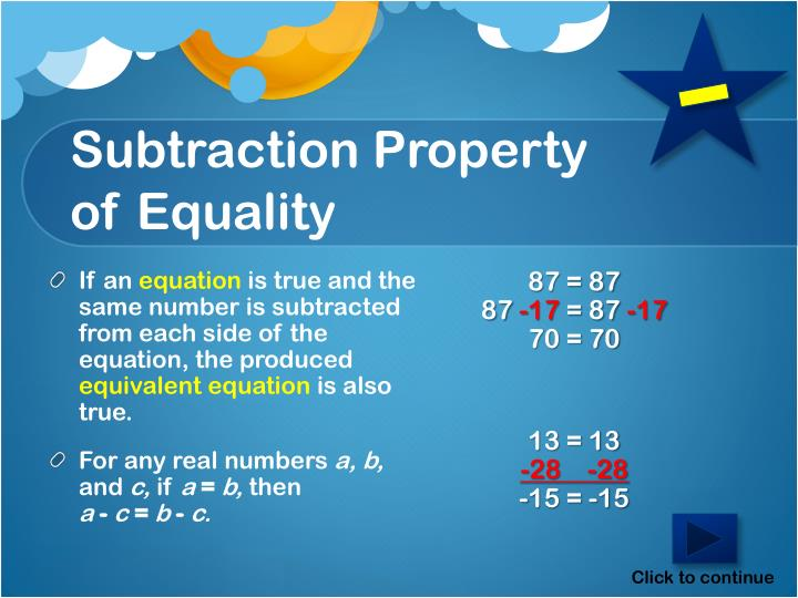 Subtraction Property