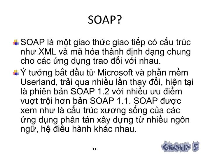 SOAP?