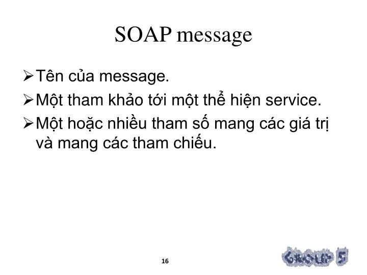 SOAP message