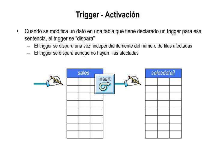 Trigger - Activación