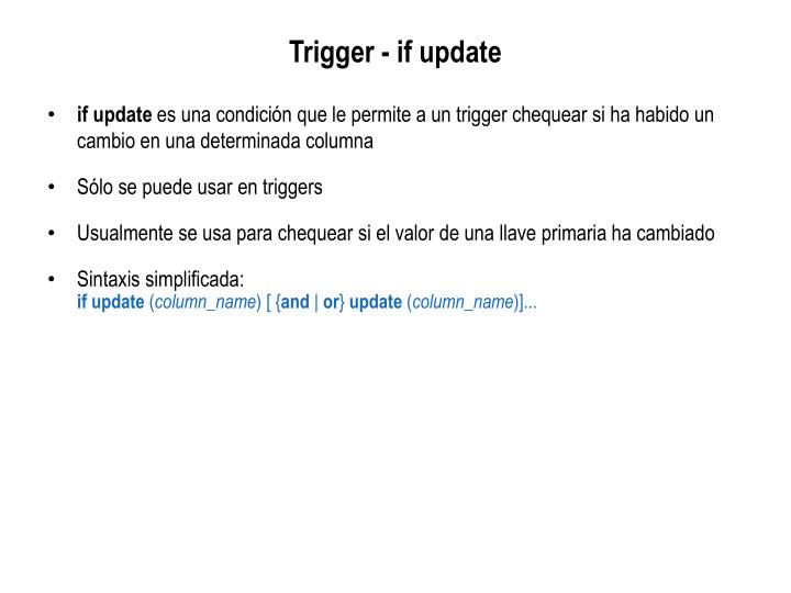 Trigger - if update