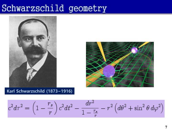 Schwarzschild geometry
