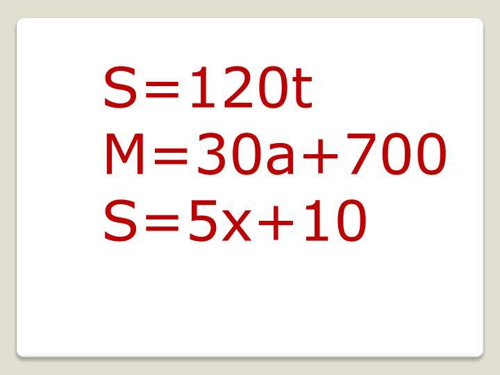 S=120t