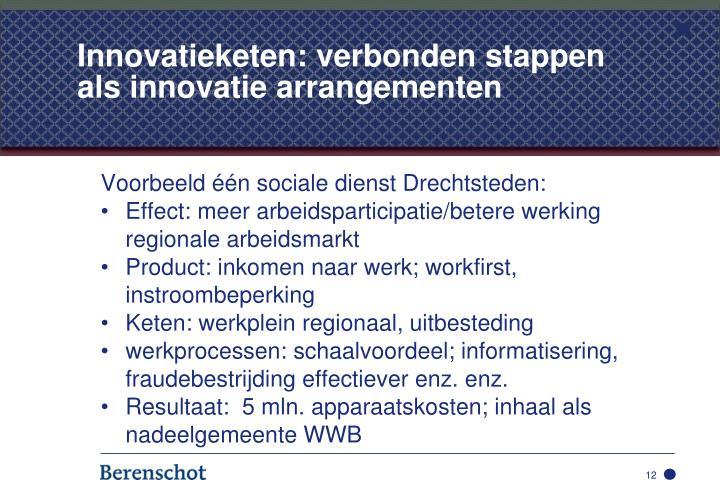 Innovatieketen: verbonden stappen als innovatie arrangementen