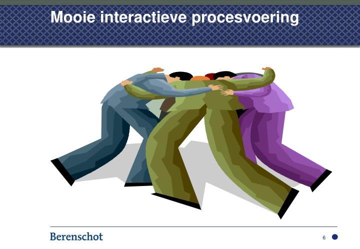 Mooie interactieve procesvoering