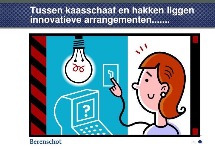 Tussen kaasschaaf en hakken liggen innovatieve arrangementen.......