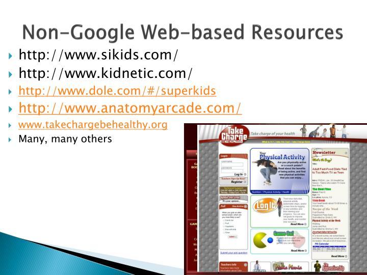 Non-Google Web-based Resources