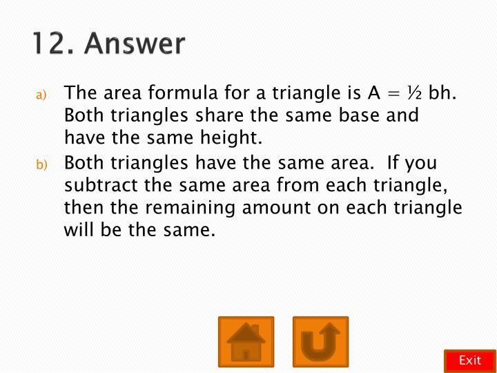 12. Answer
