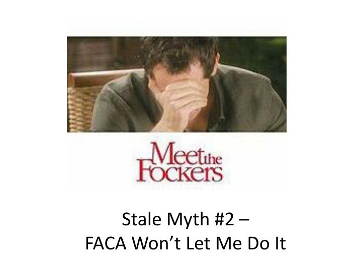 Stale Myth #2 –