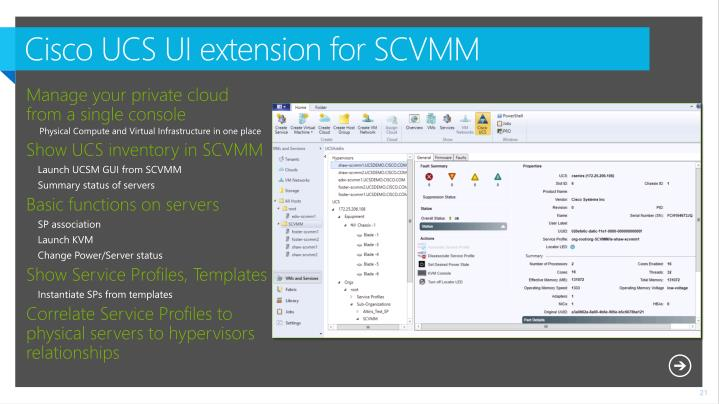 Cisco UCS UI extension for
