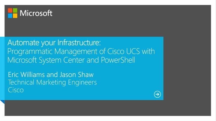 Automate your Infrastructure: