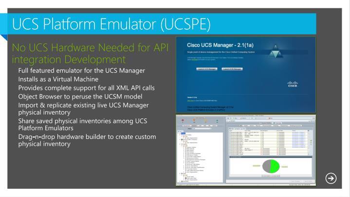 UCS Platform Emulator (UCSPE)