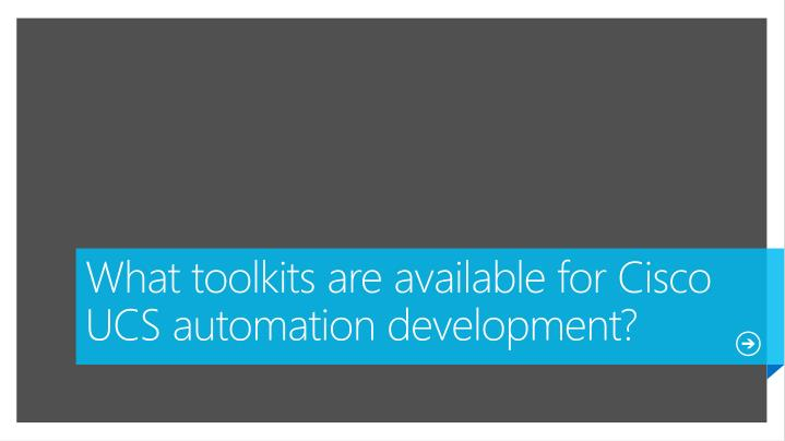 What toolkits are available for Cisco UCS automation development?
