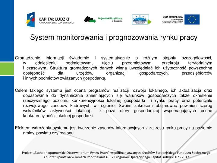 System monitorowania i prognozowania rynku pracy