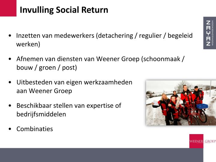 Invulling Social Return
