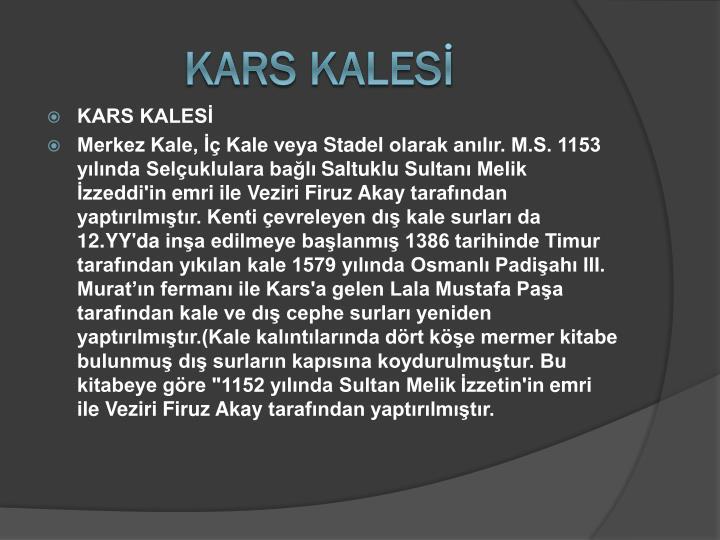 KARS KALESİ