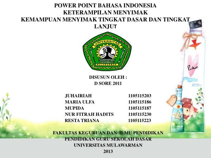 POWER POINT BAHASA INDONESIA